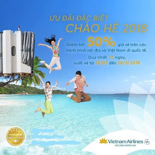 Vietnam Airlines khuyến mãi bay quốc tế và nội địa hè 2018