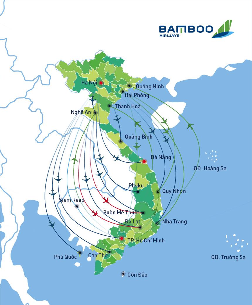 mạng đường bay của bamboo