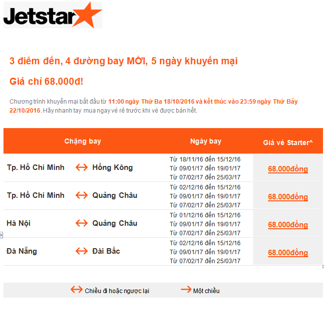 Jetstar KM bay quoc te den 22.10.16